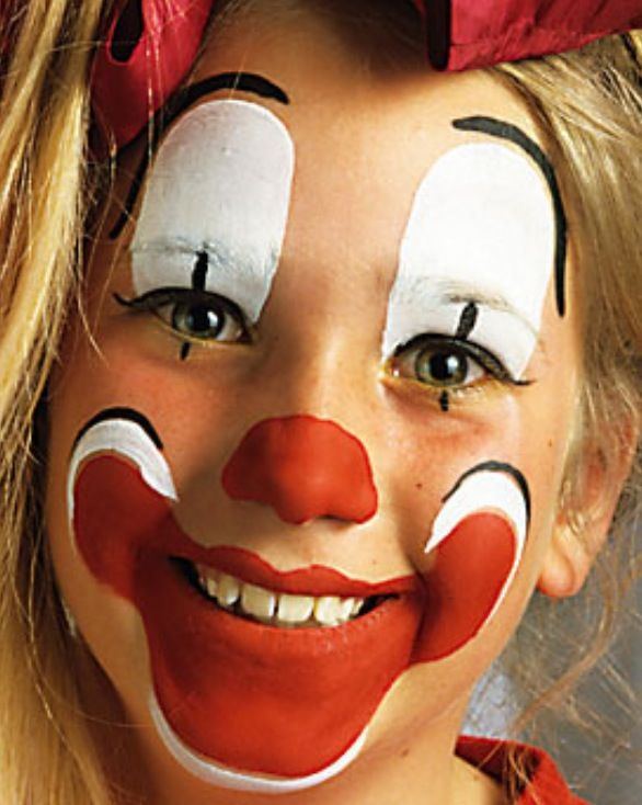 Mooie clown fasching clown gesichter kinder schminken und clown schminke - Clown schminken bilder ...