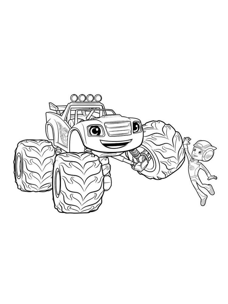 Printable Blaze And The Monster Machine Coloring Pages For Kindergarten Printable Blaze And The M Cartoon Coloring Pages Coloring Pages Nick Jr Coloring Pages