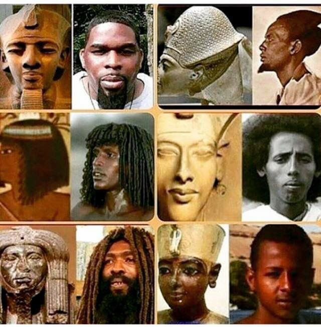 EGYPTIANS WERE BLACK. Not middle eastern, damn sure not white, but ...
