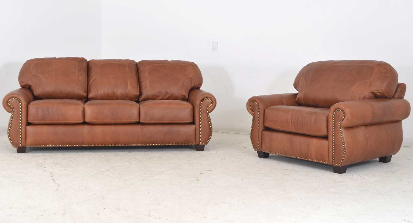 Made in the usa the addison leather sofa chair vintage leather furniture made in the usa manufacturing featured with a picture framed cushion and nail