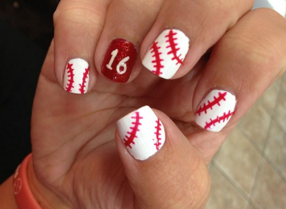 Baseball nail designs - Beautiful Baseball Nail Ideas Manicure Pinterest Baseball