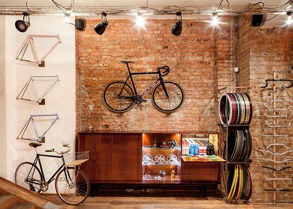 Inside Standert Bicycles Shop & Café