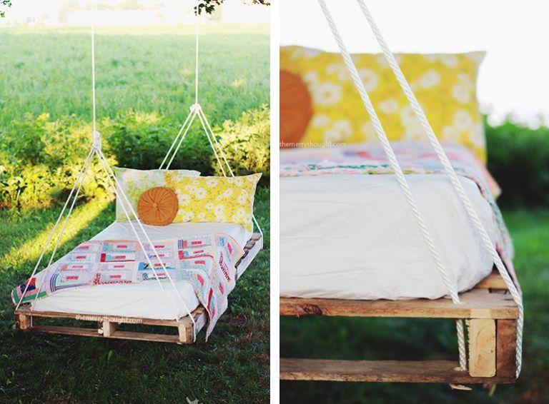 Diy Pallet Swing Bed Pallet Swing Beds Hanging Beds Diy Wooden