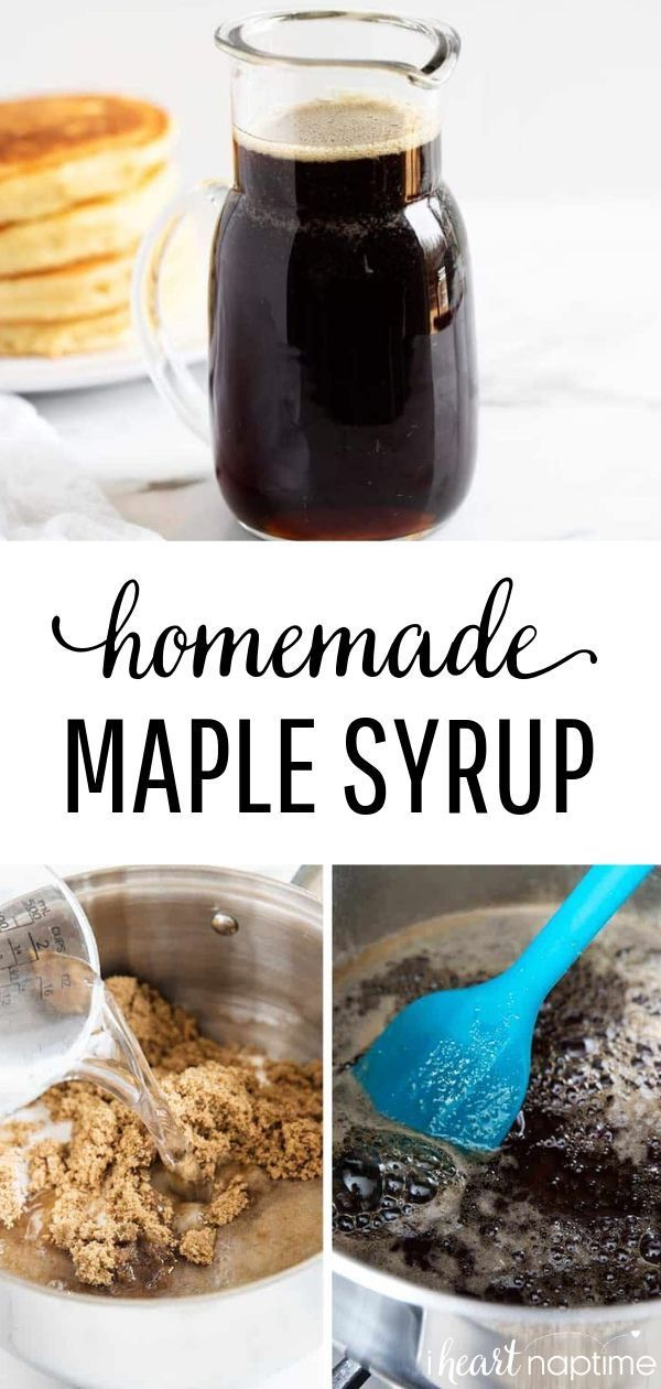 EASY Homemade Maple Syrup (5 ingredients!) - I Heart Naptime