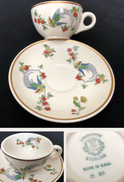 Lamberton Sterling Cup And Saucer Date Code B 8 Apr
