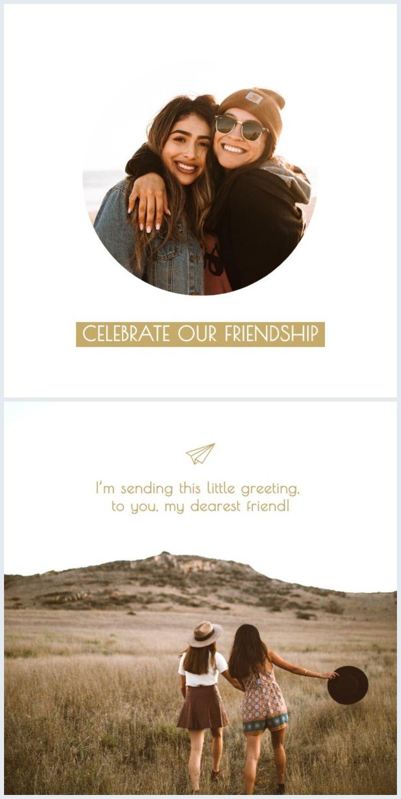 Printable Friendship Card Template Friendship Cards Friendship Printables Card Template