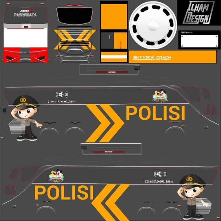 Berbagai Livery Bus Simulator Indonesia Part 4 Semua Aja Mobil Polisi Konsep Mobil Mobil Futuristik