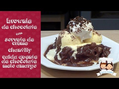 Casal na Cozinha #1 Brownie de Chocolate com Sorvete e Chantilly - YouTube