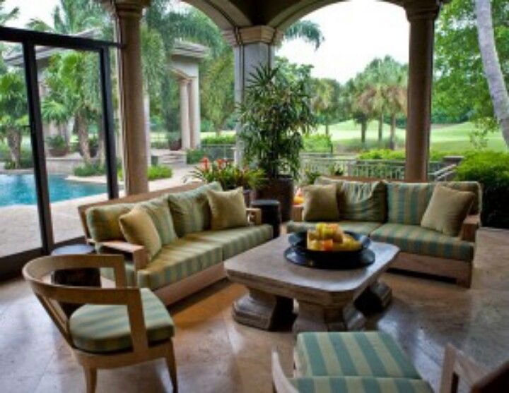 Florida Living   Screened in porch furniture, Patio design ...