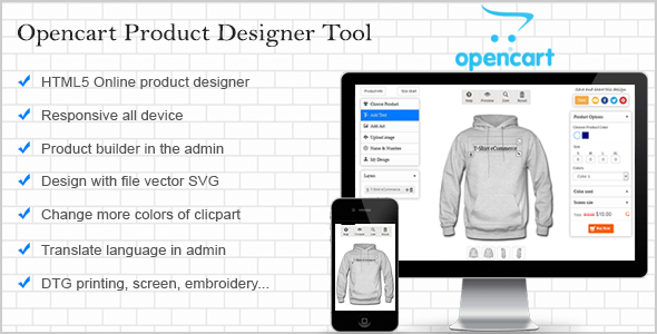 Opencart Custom Product Designer | Code Script | Design kaos
