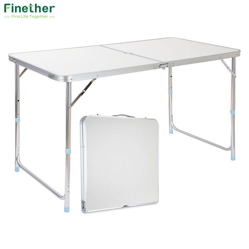Table Aluminium Pliante Finether Portable En Aluminium Table Pliante En Plein Air Ultra