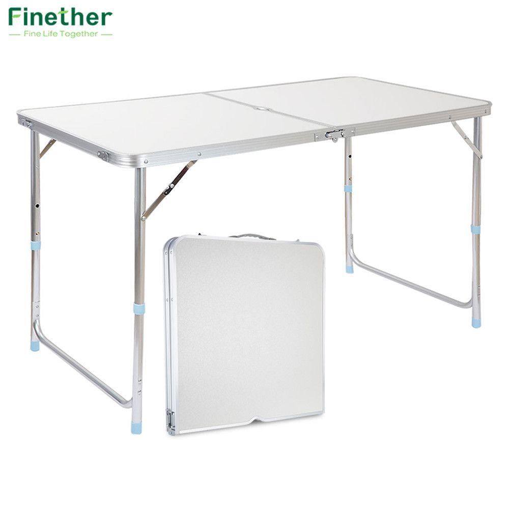 Finether Portable En Aluminium Table Pliante En Plein Air