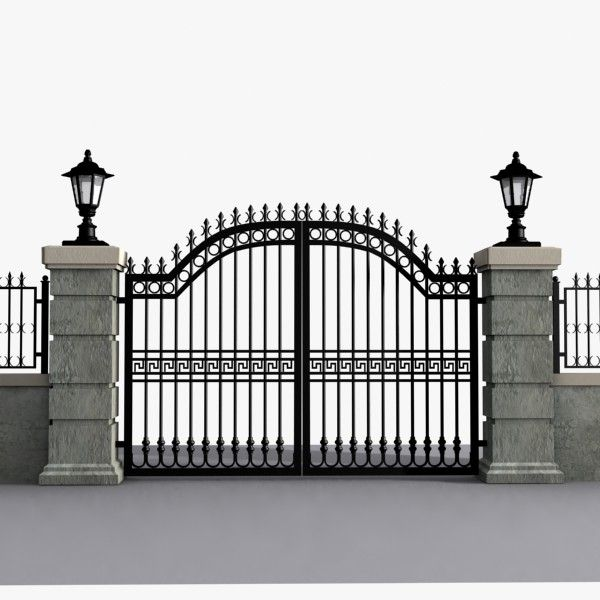 Max Wrought Iron Gate 3d Model Avec Images Fer Forge