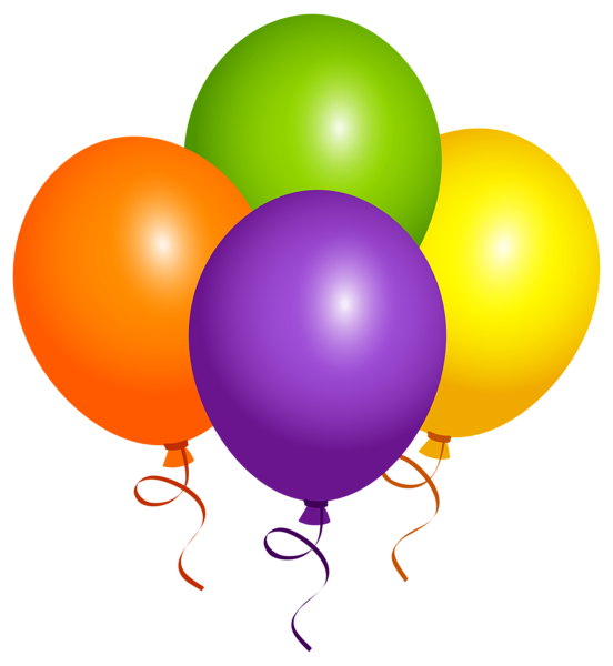 Large Balloons PNG Clipart Image