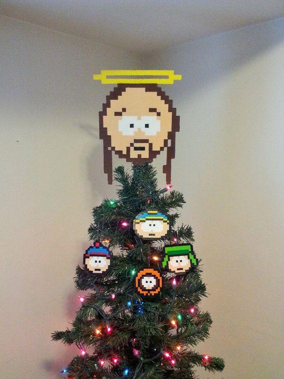 South Park Jesus Perler Bead Christmas Tree Topper by LighterCases ...