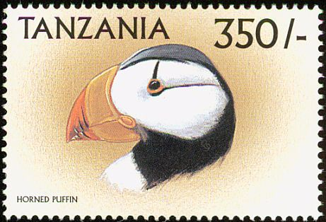 Horned Puffin stamps - mainly images - gallery format