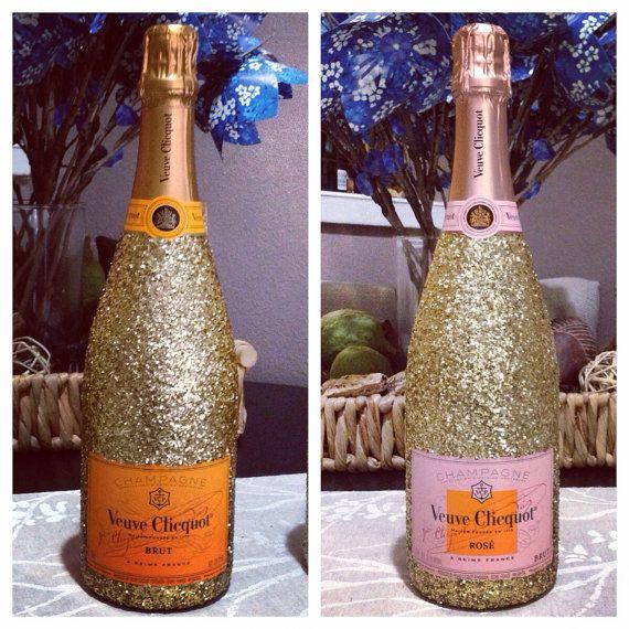 1pcs 750ml veuve clicquot glitter champagne bottle by for Decor 750ml