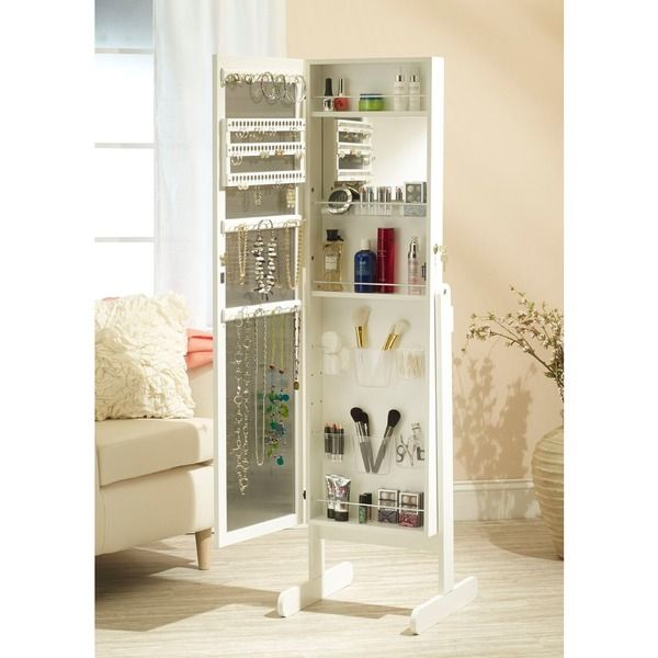 Mirrotek Everything Jewelry and Makeup organizational Armoire with
