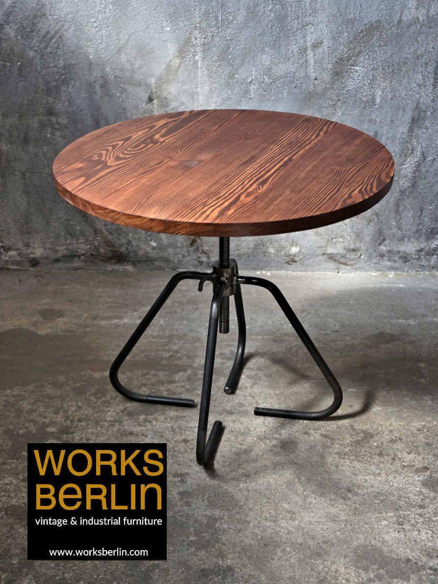 Hohenverstellbarer Industrial Tisch Bistrotisch Bistrotisch Tisch Couchtisch Hohenverstellbar