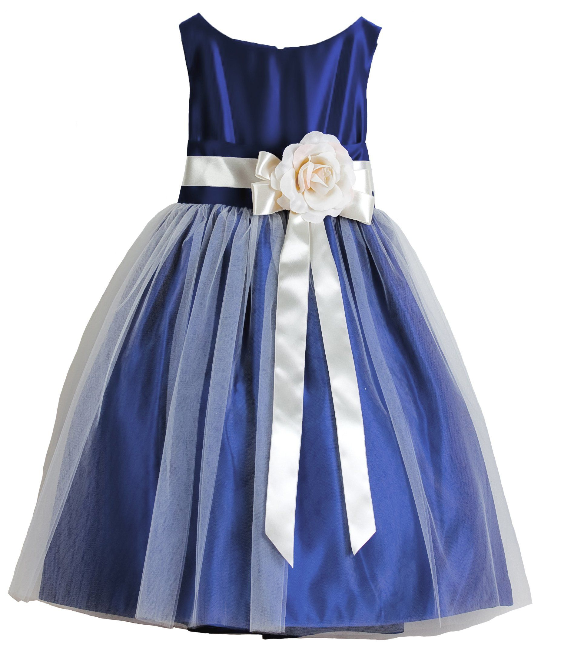 Amazon.com: Sweet Kids Little Girls\' Vintage Style Satin and Tulle ...