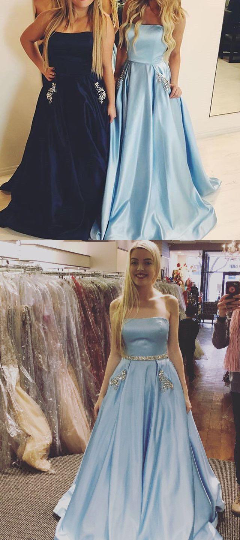 2017 Long Prom Dress, Light Prom Dress, Hot Pink Prom Dress ...
