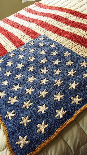 Ravelry Wysiwygirls Vintage American Flag Throw Afghans Pinterest