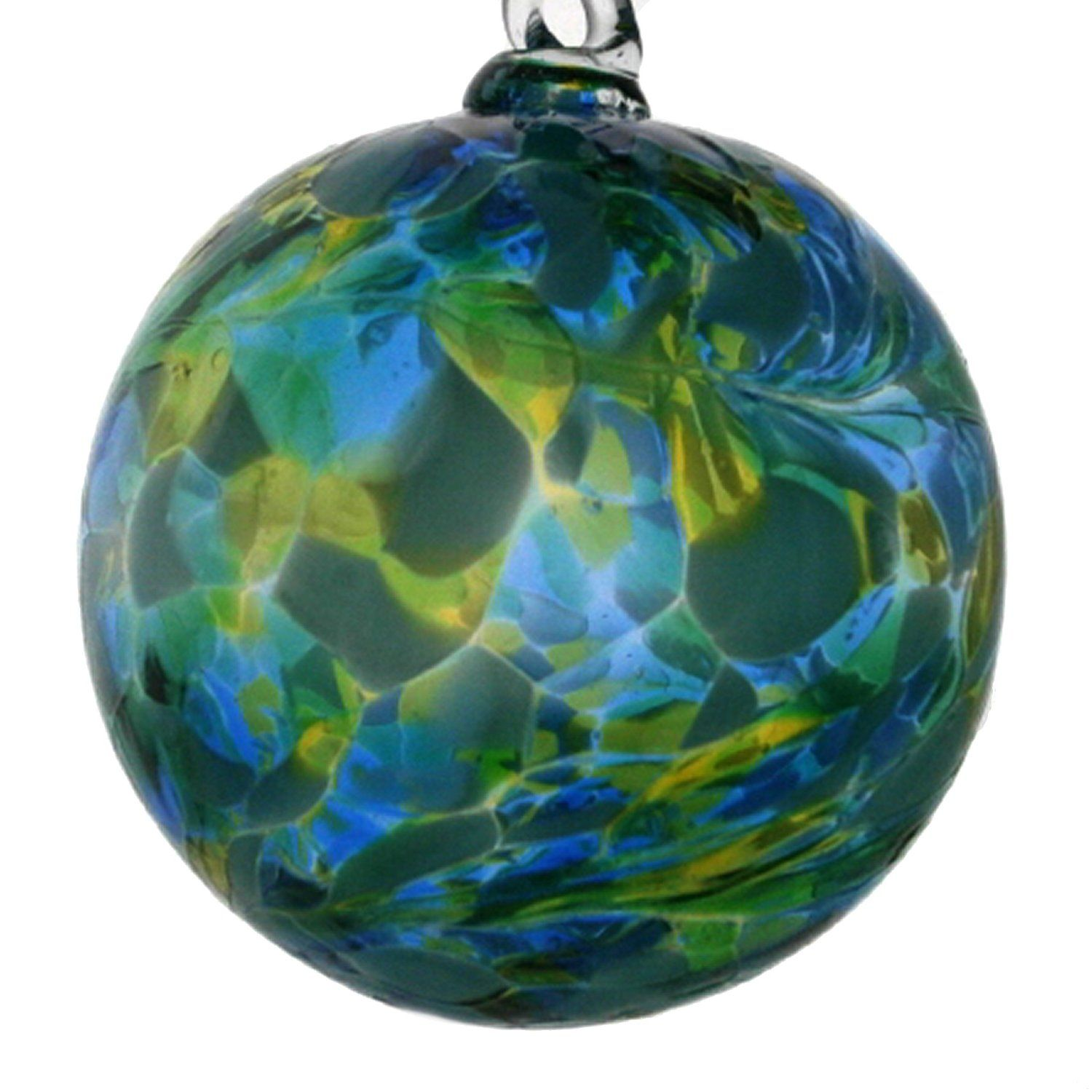 Friendship ball ornament - Hanging Glass Friendship Ball 8cm Green And Blue Amazon Co Uk