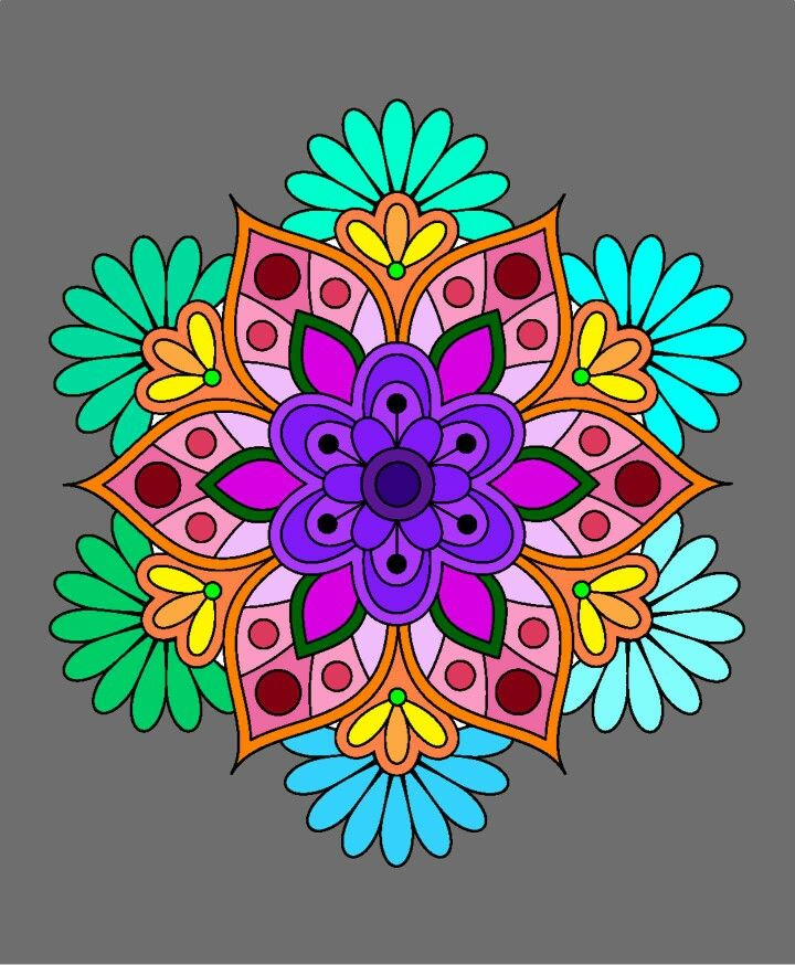 Mandalas Mandalas De Colores Mandalas Mandalas Pintadas
