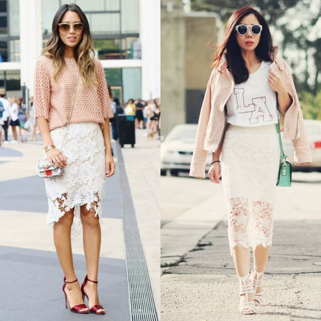 88fd20951923 18 Ideas For A Beautiful White Pencil Skirt Outfit | Skirts Outfits ...