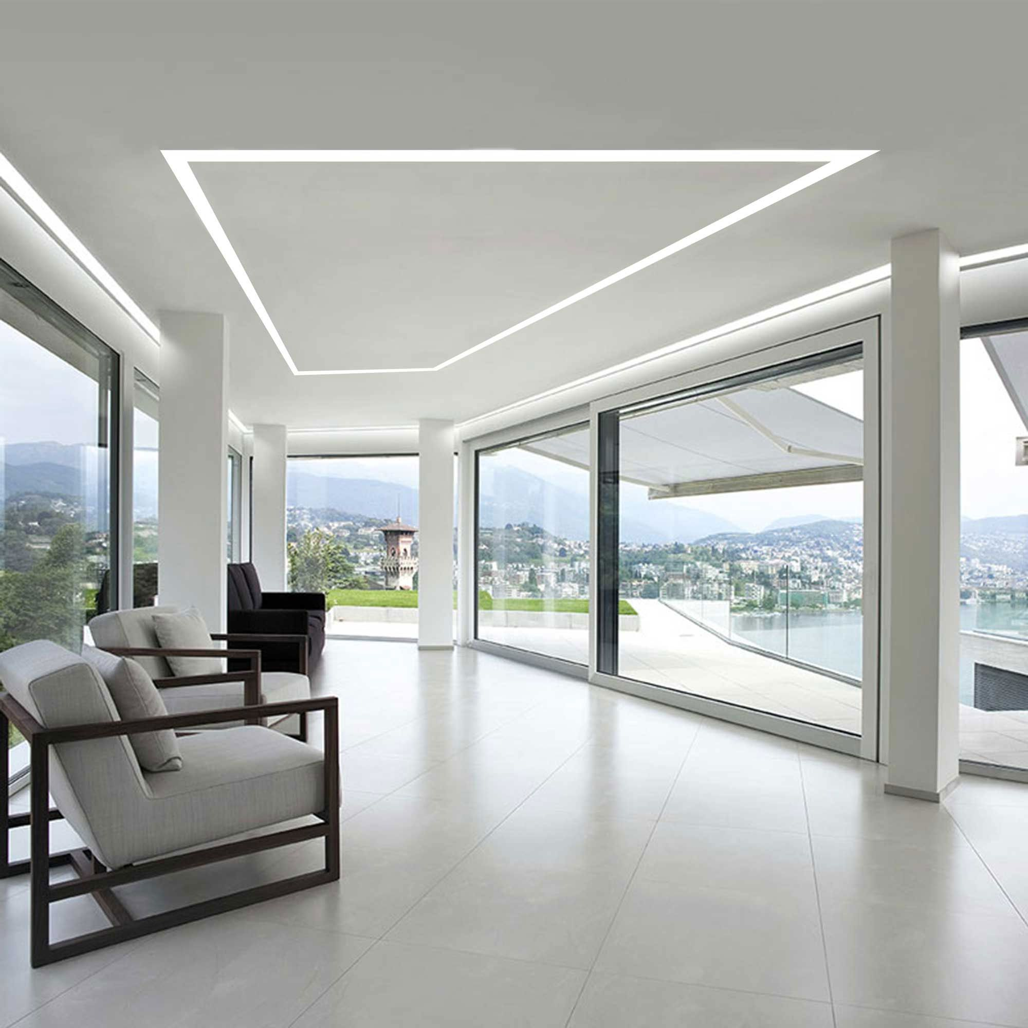 Truline Architectural Plaster In Led Lighting System Pure