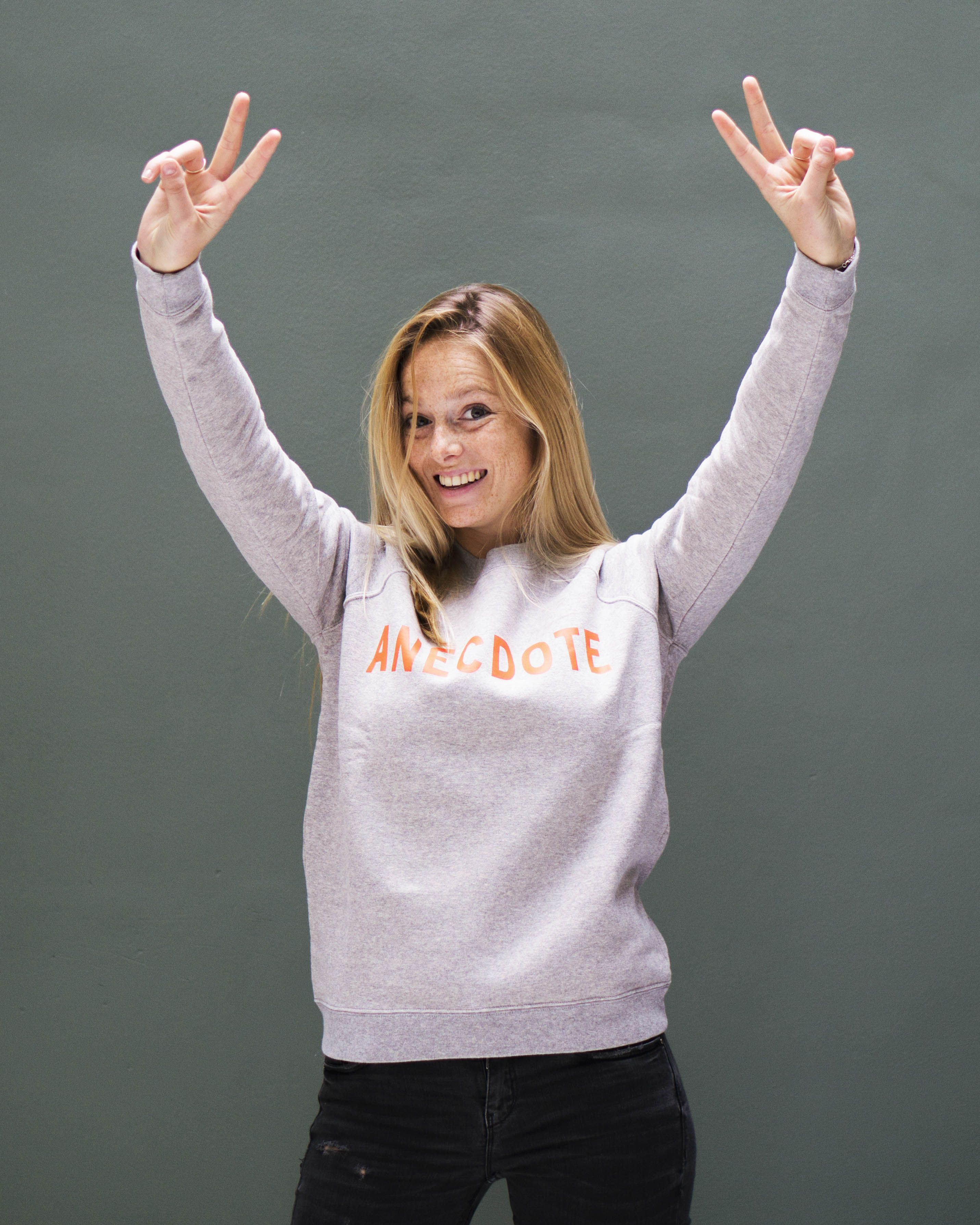 Introducing our Sales intern Gwen in the limited edition Kingsday sweater!