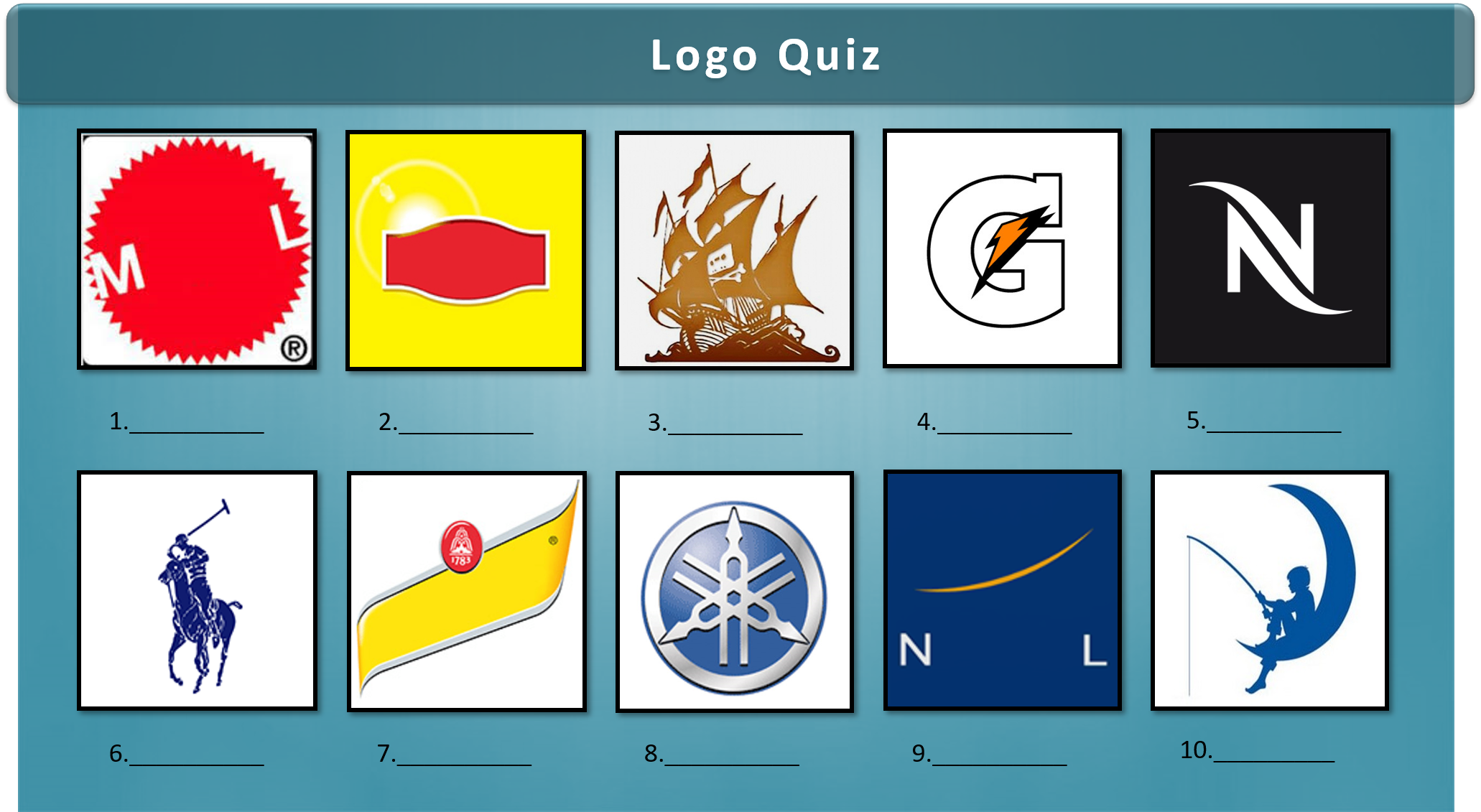 Name the famous company from these images for you're next