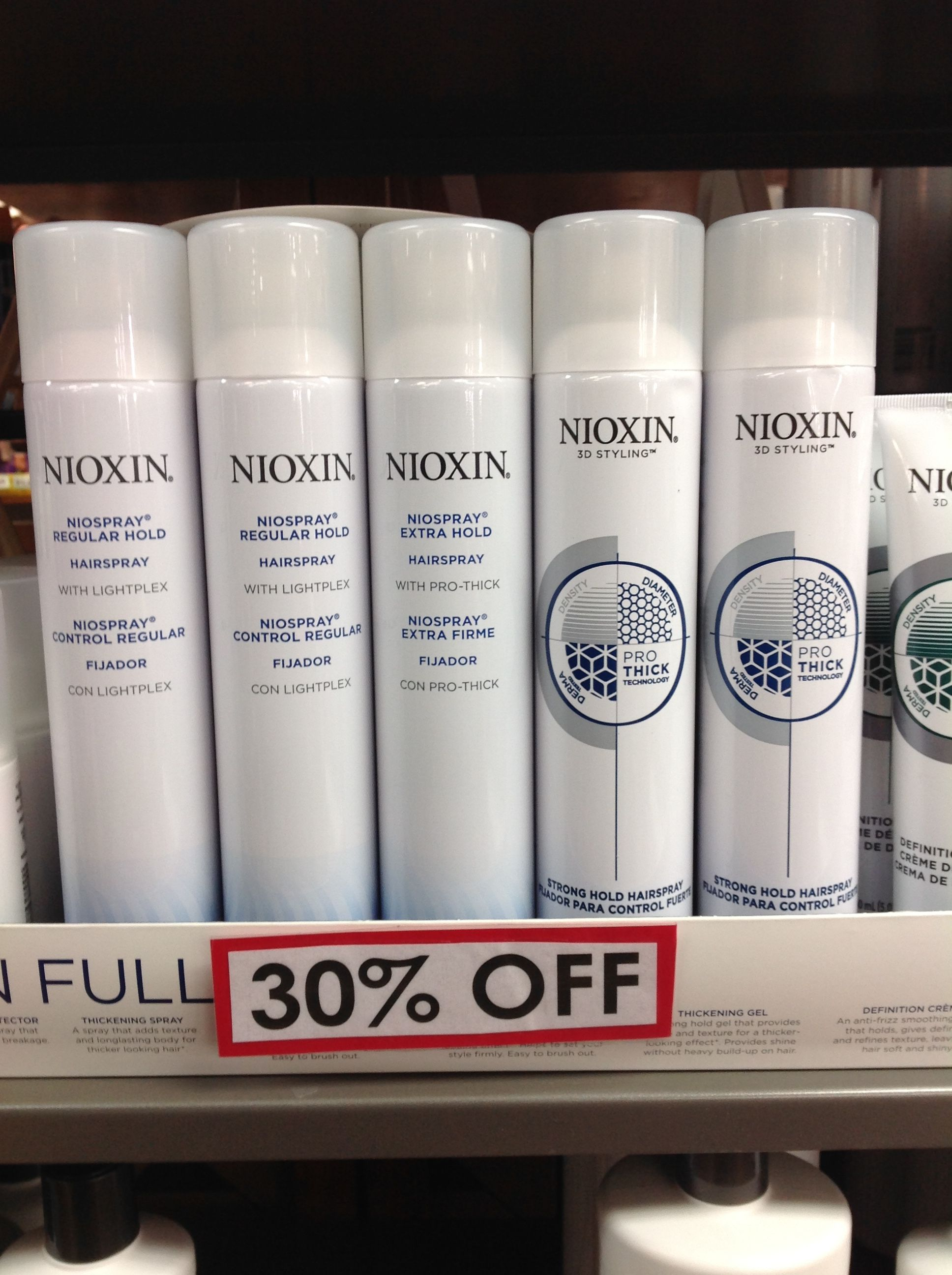 Clearance Sale! 30 Off of Nioxin Products For Thinning