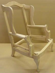 Wingback Chair Frame Image Furniture Diy Furniture