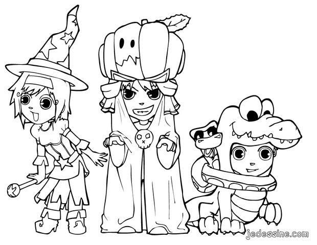 Coloriage Halloween à Colorier - Dessin à Imprimer