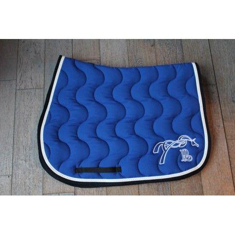 Tapis De Selle Point Sellier Classique Bleu Roi Marine