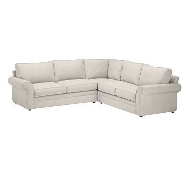 Pearce Roll Arm Upholstered 2 Piece L Shaped Sectional