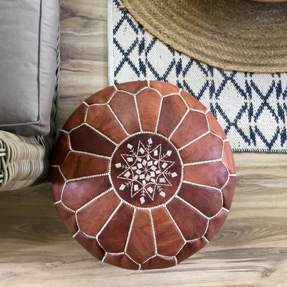 "Poufs For Sale Entrancing Sale Stuffed Moroccan Leather Pouf Ottoman With Top 13""x20"" Little Decorating Design"