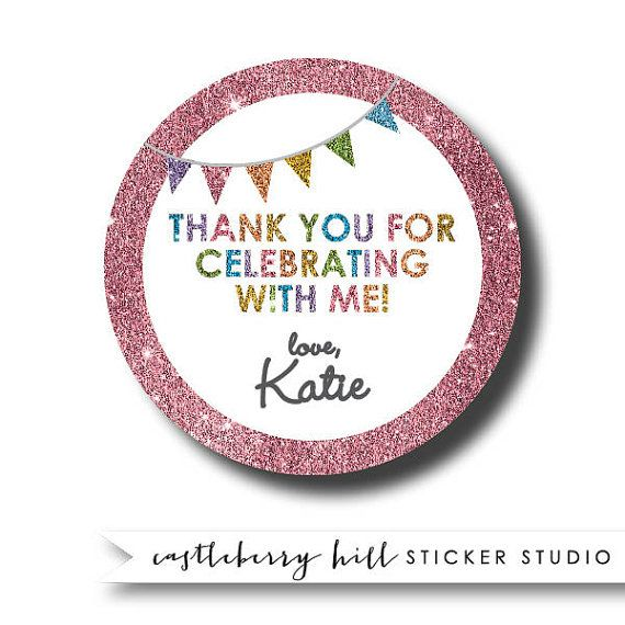 Everything Is Better With Glitter Even Birthdays These Personalized Gift Stickers A
