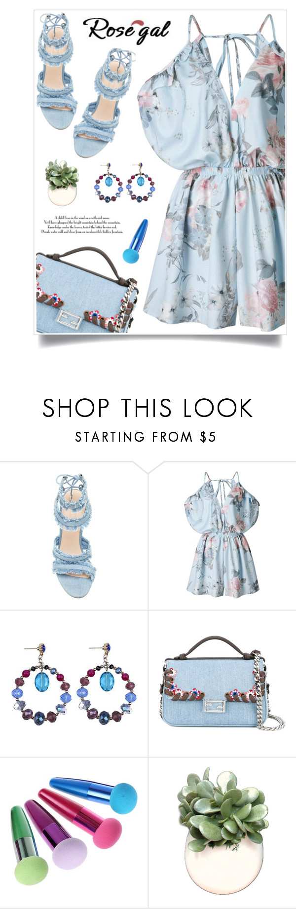 """""""Rosegal 80"""" by itsybitsy62 ❤ liked on Polyvore featuring Fendi and WALL"""