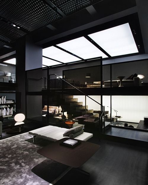 Bachelor Pad Dark Living Rooms House Design Interior