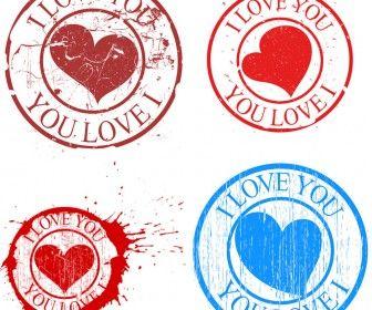 Vintage Love Stamp Vector Love Stamps Vintage Love Vector Free