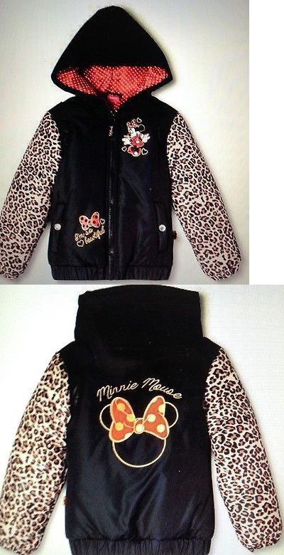 15a42ac1cc8 Sweatshirts and Hoodies 152554: Disney® Girls Minnie Mouse Adorable Leopard  Puffer Jacket Sz Xs 4 5 Brand New -> BUY IT NOW ONLY: $32.95 on eBay!