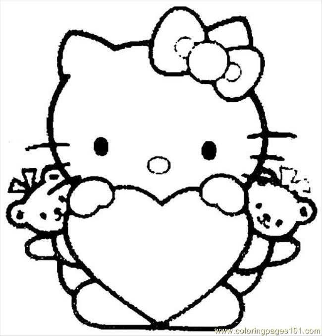 Hello Kitty Free Printable Coloring Pages