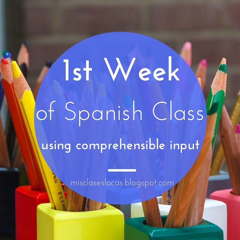 1st week of Spanish Class using CI
