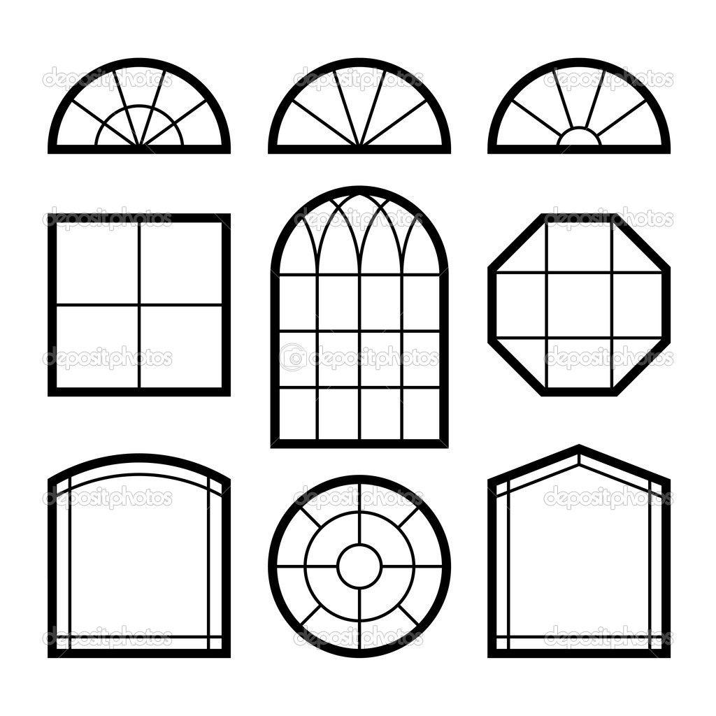 Window and door exterior drawing illustration google for Window design vector