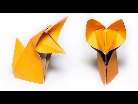 origami renard comment faire un mignon renard youtube origami origami cute origami et. Black Bedroom Furniture Sets. Home Design Ideas