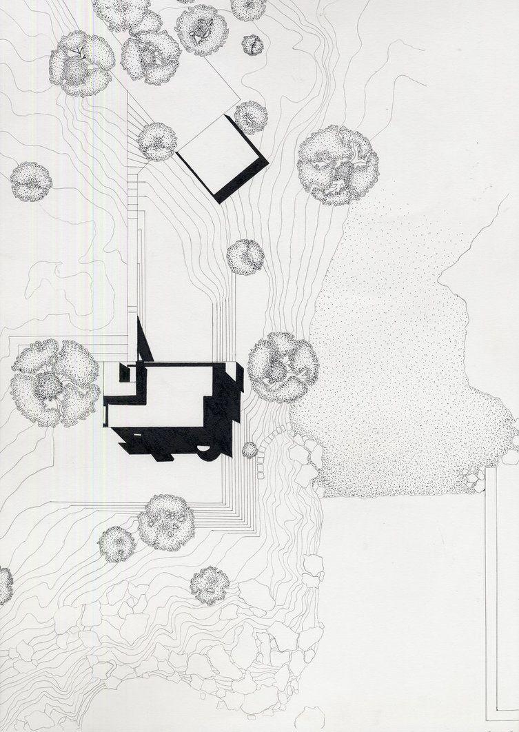 Smith House Site Plan Site Plan Drawing Site Plan Richard Meier