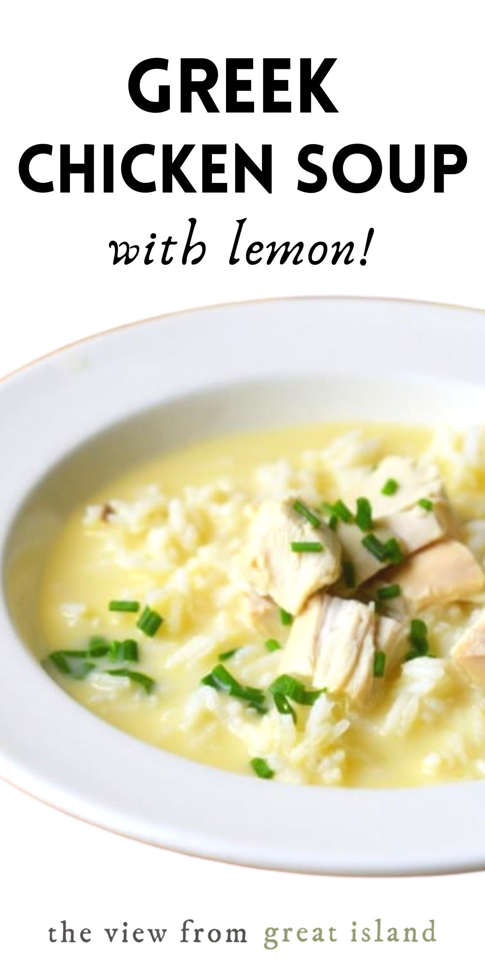 Greek Avgolemono Soup Lemony Chicken Soup Lemon Chicken Soup Greek Recipes Avgolemono Soup