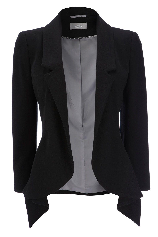dbe837e766 Linda Jaqueta Preta- Fashion blazer.